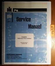 IH International Harvester 1420 Axial Flow Combine Chassis Service Manual 9/82