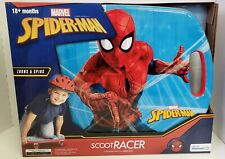 Scoot Racer Spiderman Scooter Board with Casters for Kids