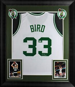Larry Bird Authentic Signed White Pro Style Framed Jersey Autographed BAS Wit