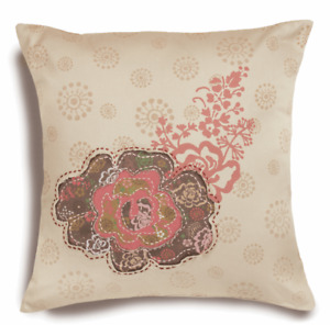 4 x Handmade Embroidery Kits Rose Patch Cushions Pillows Covers Floral 35x35cm