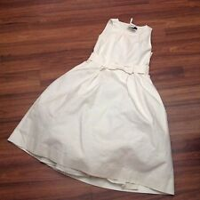 Crewcuts JCREW Beatrice special occasion dress in cotton cady 10 IVORY $178 NWT