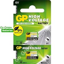 2 x GP 11A MN11 6V Alkaline Batteries A11 GP11A L1016 CX21A E11A Security Alarms