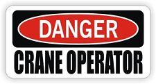 Danger Crane Operator Hard Hat Sticker | Motorcycle Helmet Decal | Funny Boom