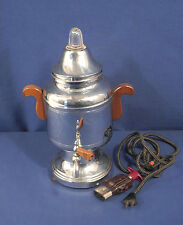 Vintage Farberware Chrome Coffee Pot Electric Percolater
