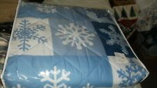 twin snowflake comforter& sham new