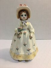 "Vtg Lefton Yamamoto Musical ""Debbie"" Doll Music Box Figurine Plays ""Laura"" 1983"