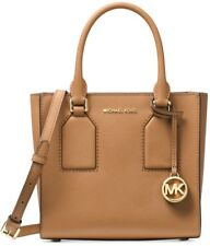 New MICHAEL KORS SELBY Acorn LEATHER Medium messenger bag tote gold medallion