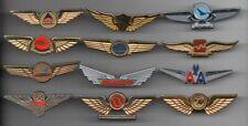 Lot of 12 Vintage Collectable Airline Pilot Wings Plastic Souvenir Badge Pins