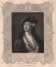 BRITISH HISTORY. Horatio Walpole, fourth Earl Of Orford. TALLIS 1853 old print