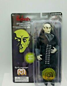 Mego Horror Nosferatu 8 Inch Action Figure With Black Coat, Glow In The Dark