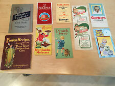 10 Vintage Recipe Booklets, Corn Syrup to Crackers.    M31