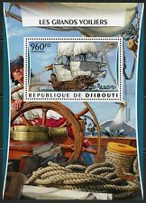 Djibouti 2016 Great Sailing Ships Souvenir Sheet Mint Never Hinged