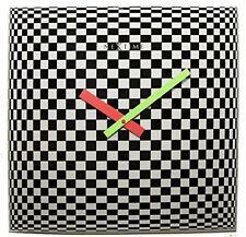 NeXtime Victor Wall Clock Glass Black