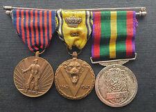 Belgium: group of 3 fullsize military WWII medals - Belgian awards decorations -
