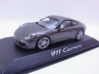 Lot 40245 Minichamps Porsche 911 Type 991 Carrera Gray Model Car 1:43 New Boxed