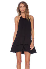 Cameo Collective Black Warm Thoughts Mini Halter Backless Dress XL 14