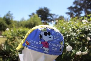CYCLING CAP KEEP COOL SNOOPY HANDMADE IN USA,   S M L