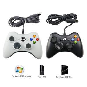 Manette de jeux filaire USB Wins 7 8 10 Contrôleur pour Microsoft Xbox 360 PC