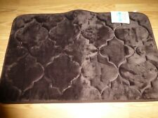 Home Accents Medallion Chocolate Brown Cushioned Bath Rug - New