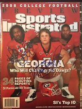Matt Stafford / Dannell Ellerbe Signed Sports Illustrated 8/11/08 Issue Georgia