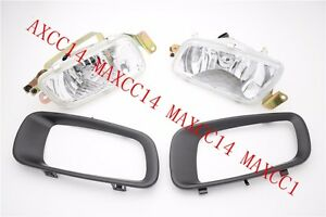 Set Front Fog Driving Lamp Light With Cover For Mitsubishi Pajero V73 2000-2003