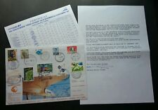 France World Tour Concordance Air 1987 FDC (concordance cover *rare *certificate