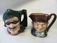 Royal Doulton Old Charley 3 3/8� Dick Turpin 3 5/8� 2 Small Character Jugs Xlnt