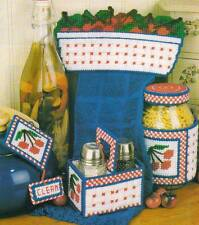 CHERRY KITCHEN ACCENTS SALT & PEPPER CADDY PLASTIC CANVAS PATTERN INSTRUCTIONS