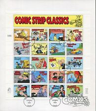 USPS The Comic Times 1995 Ceremony Program & US Stamps #3000 Full Sheet of 20