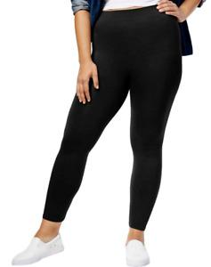 Hue First Looks Seamless Leggings Plus Size 1X Black 16W-18W