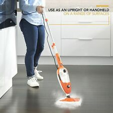 10 in 1 Upright Handheld Steam Mop Hardwood Floor Cleaner with 2 Microfiber Pads
