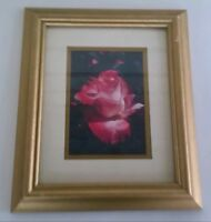 Vintage Set Of 2 Collectible Picture Frames With Flowers Roses 1990's