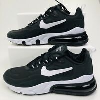NIKE Air Max 270 React Trainers Casual Mens Sneakers Black White RRP £140