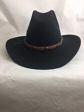 RESISTOL 7 1/2 ROUND BLACK BEAVER COWBOY HAT TSH