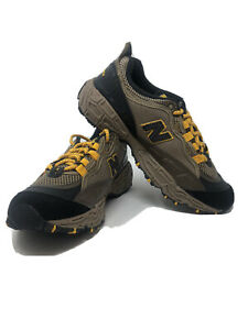 New Balance All Terrain Trail Hiking Shoes Brown Yellow ML801SB Size 8 Mens New