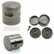 USA 55mm 4 Piece Zinc Alloy Hand Crank Herb Mill Crusher Tobacco Smoke Grinder