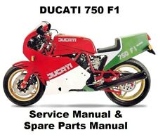 DUCATI 750 F1 DESMO - Owners Workshop Service Repair Parts Manual PDF on CD-R