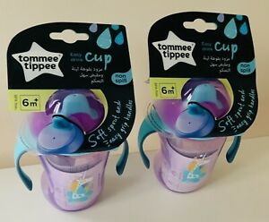 Tommee Tippee Non Spill Easy Drink Cup 6 Months+ Purple Unicorn x 2