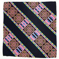 Men's Pocket Square Handkerchief Wedding Fashion Dress Silk Black Pink Hanky