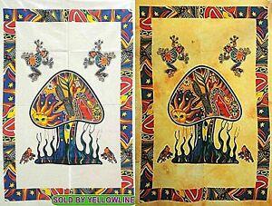 2 piece Mushroom Tapestry Bohomen Indian Wall Hanging Wholesale (77cmX102cm)WY-4