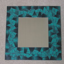 Superb Hand Crafted Mosaic Mirror With Dark Green Color 40x40 Cm Wide