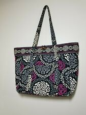 Retired Vera Bradley Canterberry Magenta Large Tote Bag