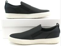 Cipher Voyager Matt Black White Men's Leather LowTop Trainers Sneakers UK 8