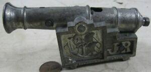 Vintage Die Cast Metal Ship Cannon Maywood, IL JR Callen