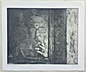 Arikha Avigdor Self Portrait Hand signed and numbered epreuve d'artiste