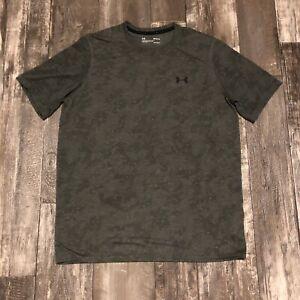 Under Armour - Heatgear - Green Camo - Short Sleeve T Shirt - Men's Size Medium