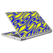 Skins Decals for Acer Chromebook R13 Laptop Vinyl Wrap / Neon Blue Yellow trippy