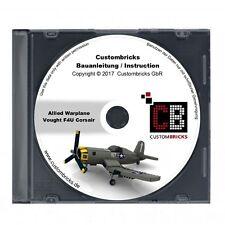 CB Bauanleitung WW2 WWII Warplane Vought F4u Corsair Grey MOC für LEGO® Steine