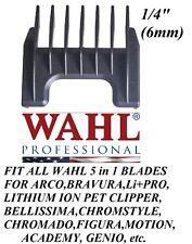 """Wahl 1/4"""" (6mm) Attachment GUIDE 5 in 1 Blade COMB-Arco,Chromado,Bravura Clipper"""