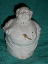 Antique Schafer Vater Figural Portly Gentleman w Cigar Trinket Box Marked Exc
